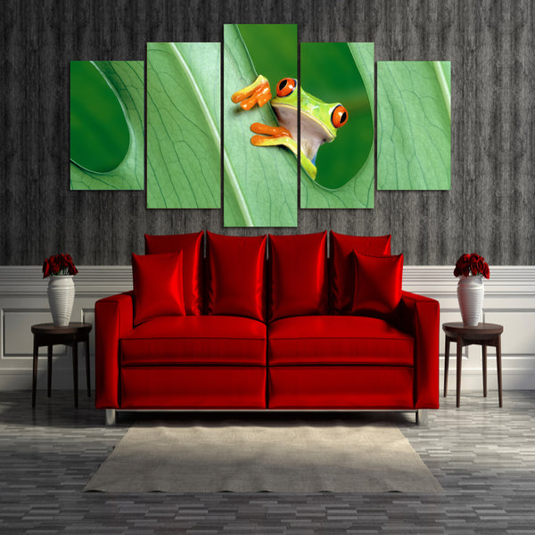 HD Printed Lovely Frog picture Painting wall art room decor print poster picture canvas Free shipping/ny-688