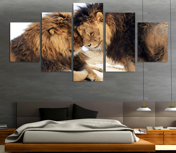 HD Printed Animals Lion Group Painting Canvas Print room decor print poster picture canvas Free shipping/ny-024