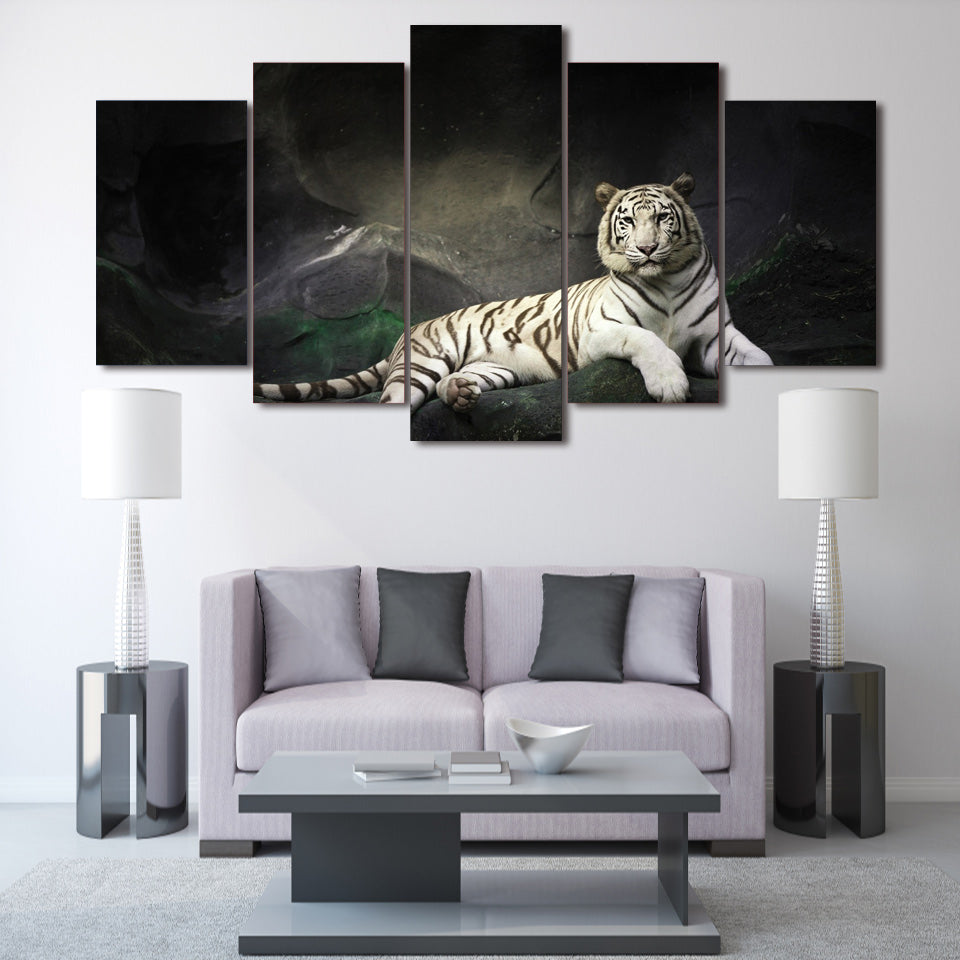 HD Printed White Tiger Landscape Group Painting room decor print poster picture canvas Free shipping/ny-029