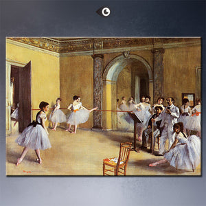 dance-class-at-the-opera-1872 by  EDGAR DEGAS artist portrait wall painting art print on canvasfor wall picture