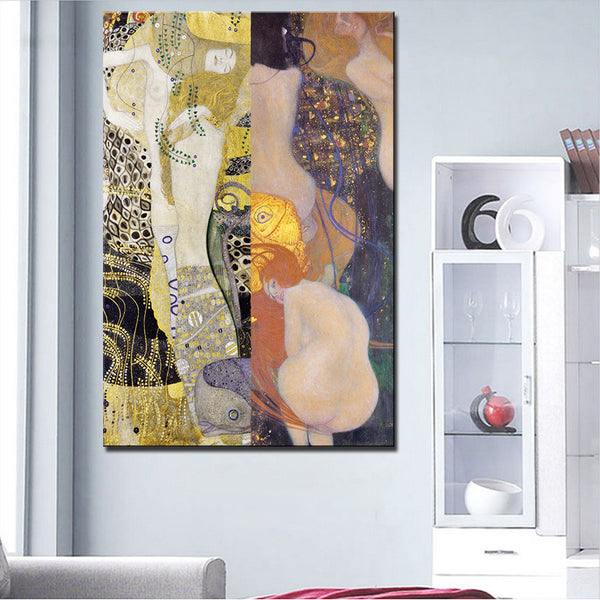 Large sizes Klimt Portrait Goldfische 1901-02 print  wall art decoration oil painting wall painting picture No framed