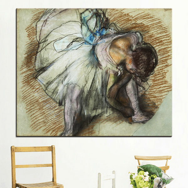 DP ARTISAN Dancer Adjusting Her Shoe Wall painting print on canvas for home decor oil painting arts No framed wall pictures