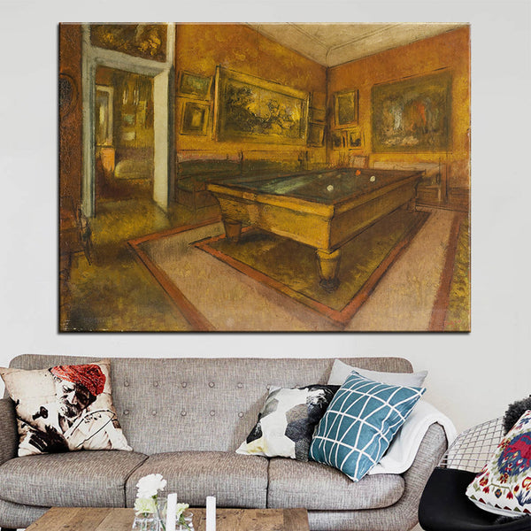 DP ARTISAN Billiard Room at Menil Hubert Wall painting print on canvas for home decor oil painting arts No framed wall pictures