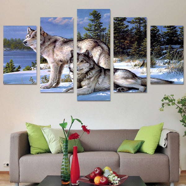 HD Printed Wolf Figure  Painting on canvas room decoration print poster picture canvas Free shipping/ny-4001