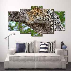 HD Printed Tree African leopard Painting on canvas room decoration print poster picture canvas Free shipping/ny-2050