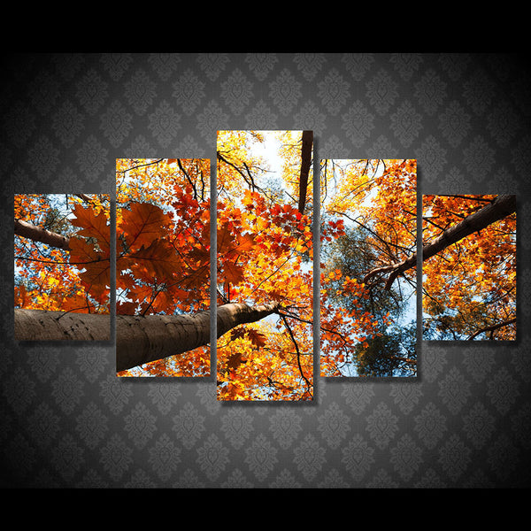 HD Printed Golden Leaves Painting Canvas Print room decor print poster picture canvas Free shipping/ny-4994