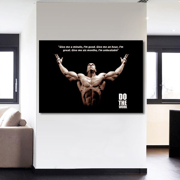 1 Piece Canvas Art Bodybuilding Saying Printed Wall Art Home Decor Canvas Painting Picture Poster Free Shipping CU-1404B