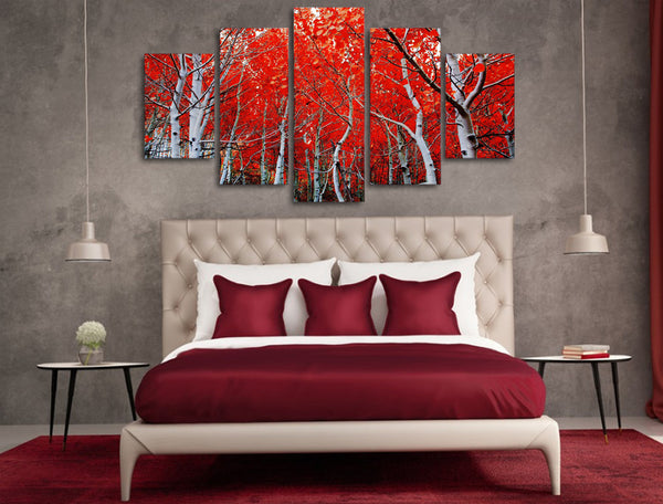 canvas art Printed red autumn Maple Leaf Painting Canvas Print room decor print poster picture canvas Free shipping/NY-5731