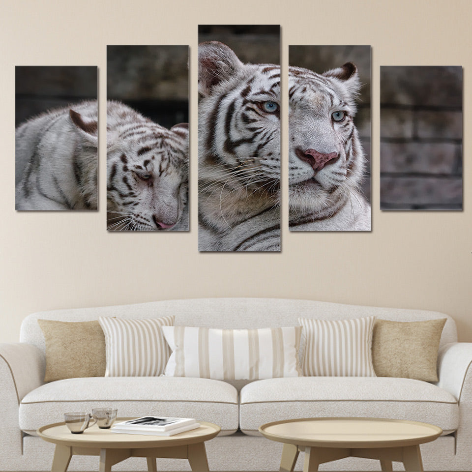 HD Printed White Tiger Painting on canvas room decoration print poster picture canvas Free shipping/ny-2194