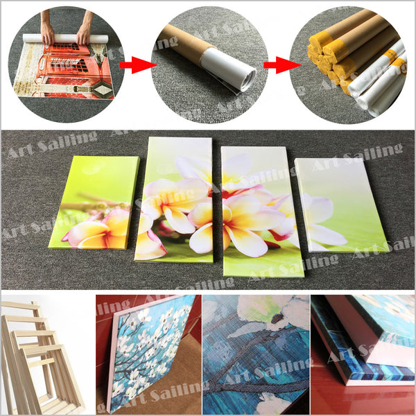 HD Printed 1 piece swimming fish canvas Painting canvas poster ocean room decoration posters and prints Free shipping/ny-6671B