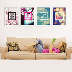 Nordic Decoration Life Philosophy Posters And Prints Wall Art Canvas Painting Wall Pictures For Living Room No Poster Frame