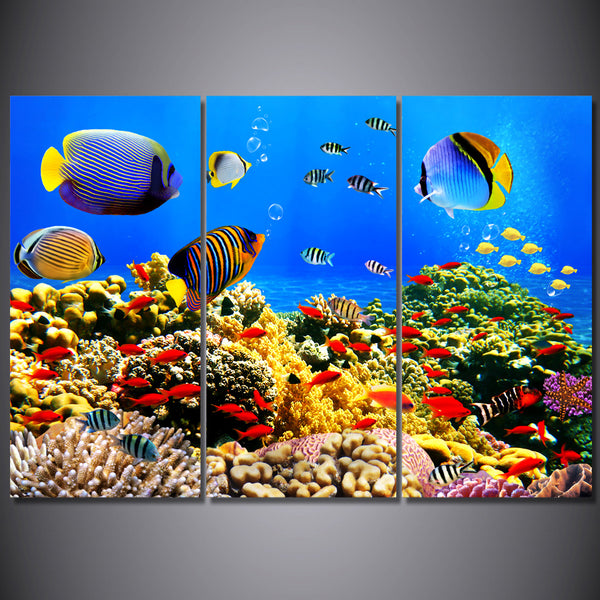 HD Printed Marine fish coral Painting Canvas Print room decor print poster picture canvas Free shipping/ny-6411C