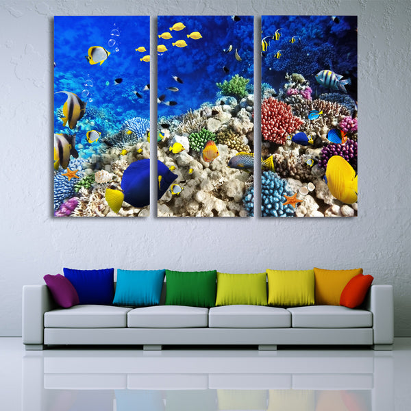 HD Printed Marine fish coral Painting Canvas Print room decor print poster picture canvas Free shipping/ny-6413C