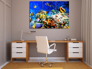HD Printed Marine fish coral seabed Painting Canvas Print room decor print poster picture canvas Free shipping/ny-6412C