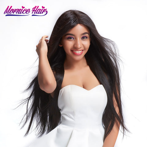 Mornice Hair Indian Remy Hair Bundles Straight Human Hair Weave Natural Black 1 Bundle Free Shipping 100g