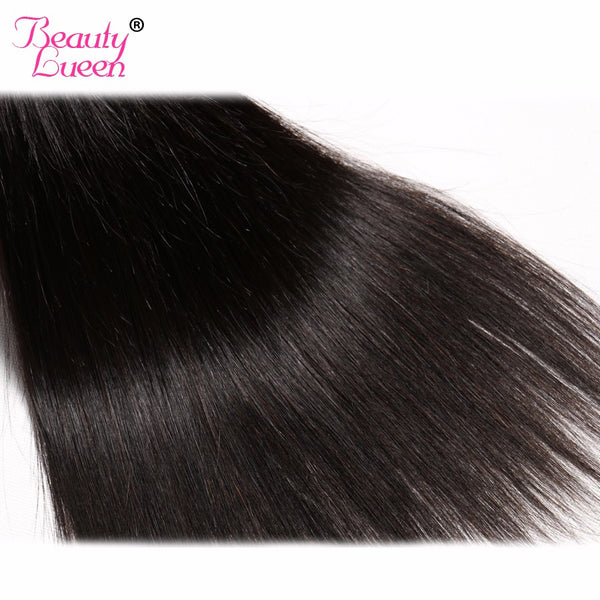Non-Remy Hair Malaysian Straight Hair 100% Human Hair Weave Bundle Bouncy No Split Ends 1B Free Shipping 1 Piece Beauty Lueen