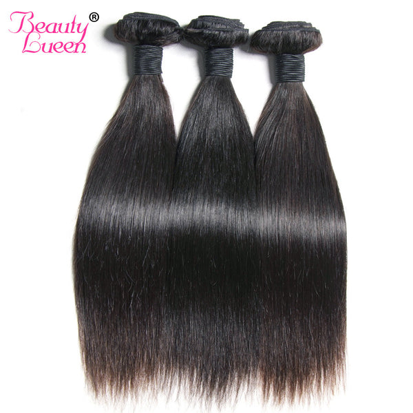 Peruvian Straight Virgin Hair 8-28'' Natural Color Unprocessed Human Hair Bundles Can Be Dyed And Blexhed Beauty Lueen Hair