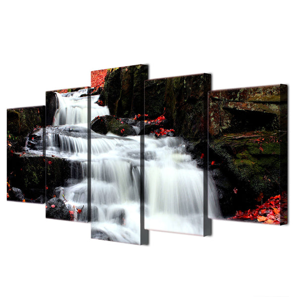 HD Printed 5 piece canvas art paintings white waterfall landscape bedroom decor artwork canvas posters and prints ny-6234