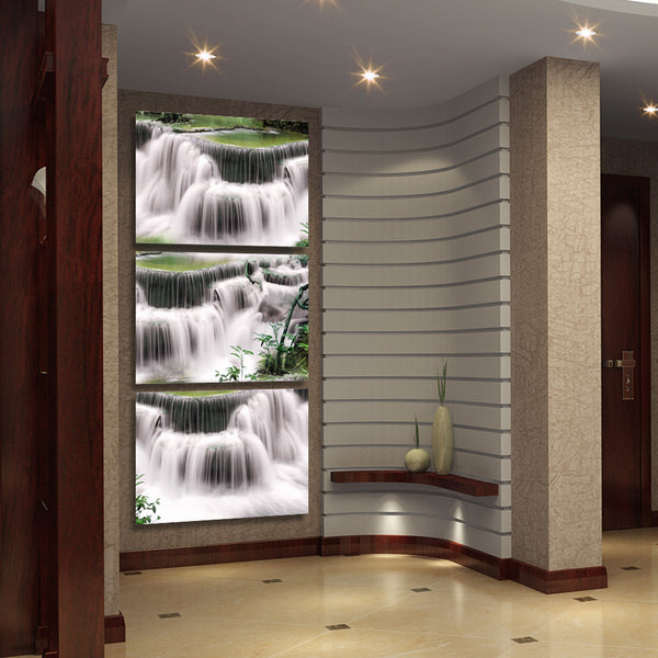 HD printed 3 piece Waterfall landscape Painting wall pictures for living room canvas painting Free shipping/ny-6419D