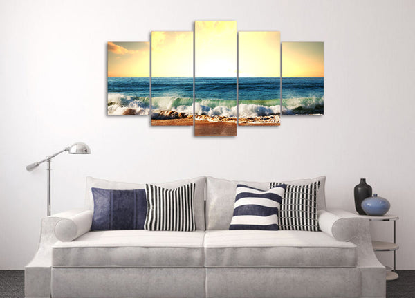 HD Printed Beach waves Painting on canvas room decoration print poster picture canvas Free shipping/ny-1416