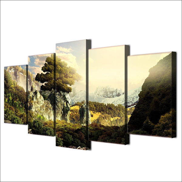HD Printed natural paradise 5 piece picture Painting wall art room decor print poster picture canvas Free shipping/ny-599