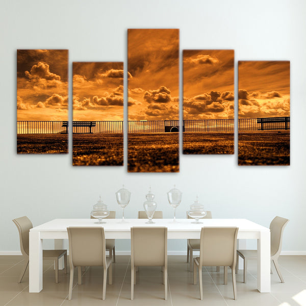 HD Printed outdoor railing picture Painting wall art room decor print poster picture canvas Free shipping/ny-603