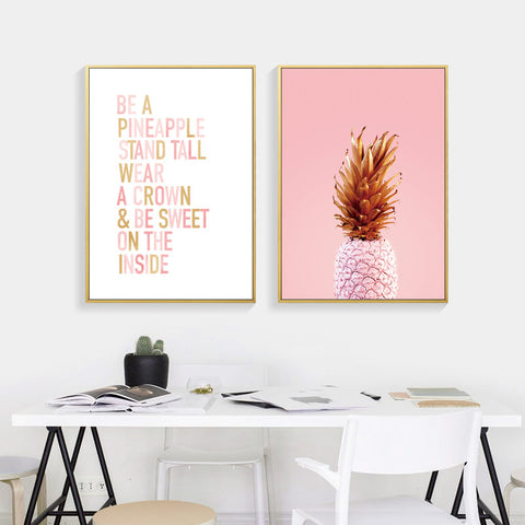 Pineapple Cuadros Decoracion Wall Pictures For Living Room Wall Art Canvas Painting Mountain Posters And Prints No Poster Frame