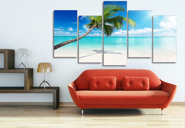 HD Printed palm tree beach picture Painting wall art room decor print poster picture canvas Free shipping/ny-604