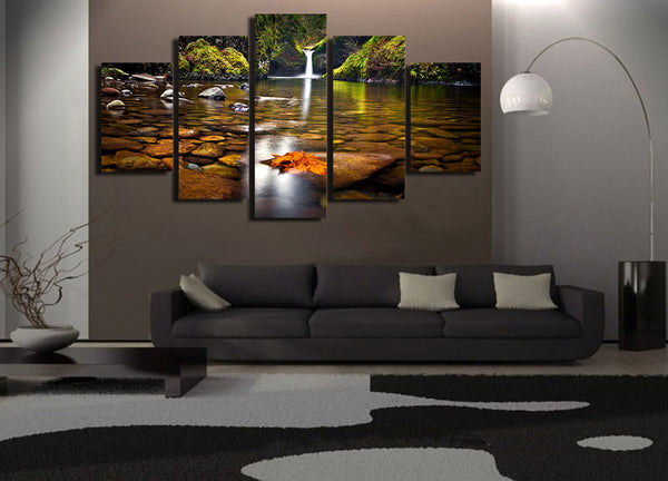 HD Printed priroda ozero les vodopad Painting Canvas Print room decor print poster picture canvas Free shipping/NY-5926