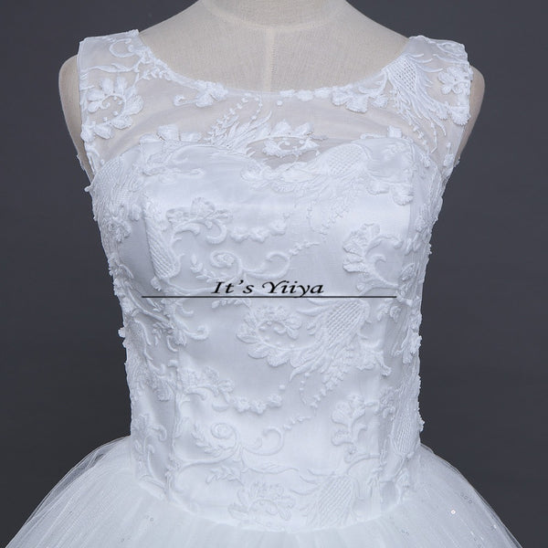 Free shipping New 2017 Summer O-neck Lace White Wedding Dresses Plus size Princess Bride Frocks Vestidos De Novia HS246