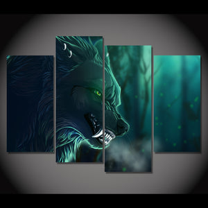 HD Printed Night wolf Group Painting on canvas room decoration print poster picture canvas framed Free shipping/ny-1229
