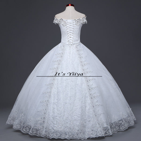 Free shipping 2015 new design high quality wedding dress white princess wedding gown fashion sexy Vestidos De Novia HS595