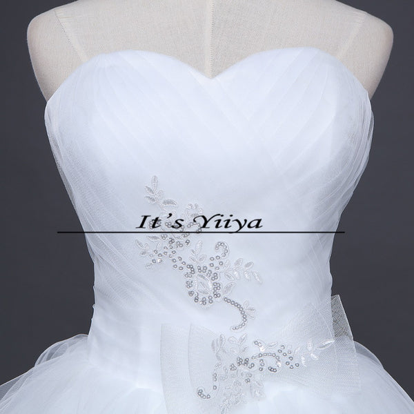 Free Shipping New 2016 Wedding dresses Handmade Vestidos De Novia Bridal Wedding dress White Princess Bride Wedding frocks D64