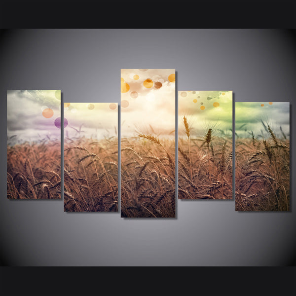 HD Printed rainbow country 5 piece Painting wall art room decor print poster picture canvas Free shipping/ny-609