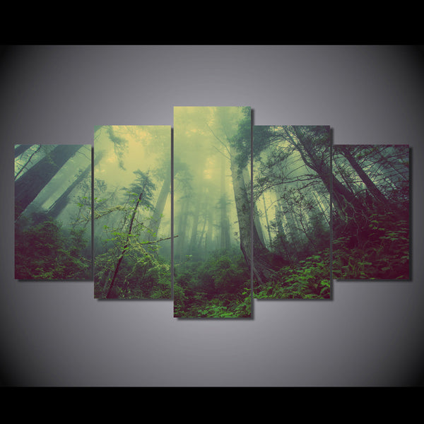 canvas art Printed forest green fog Painting Canvas Print room decor print poster picture canvas Free shipping/NY-6281