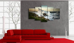 HD Printed wave crashing on rock picture Painting wall art room decor print poster picture canvas Free shipping/ny-776