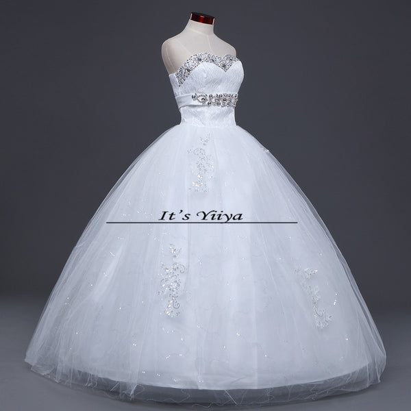 HOT Free shipping new 2015 white princess fashionable lace wedding dress romantic tulle wedding dresses Vestidos De Novia HS107