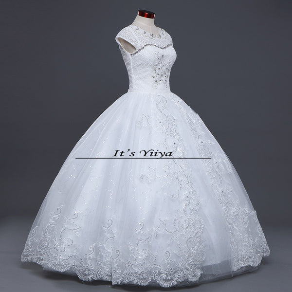 Free shipping 2015 new white high quality wedding dress princess Vestidos De Novia fashion wedding gown HS410