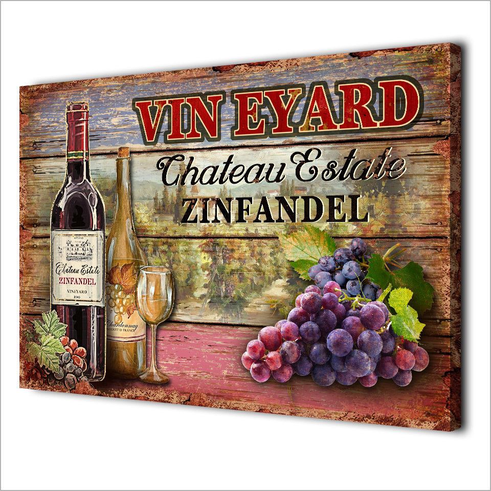 HD Printed 1 Piece Canvas Art Vintage Wall Paintings Grape Wine Drink Poster for Winery Wall Decoration Free Shipping CU-1652C