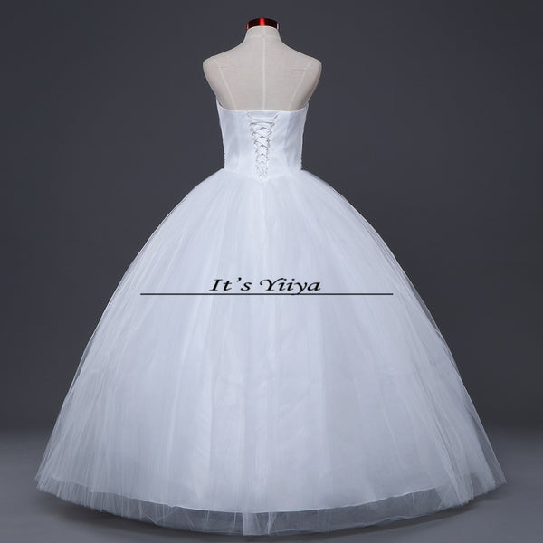 HOT Free shipping white princess wedding dress 2015 plus size fashionable cheap bride Vestidos De Novia wedding gown Y228