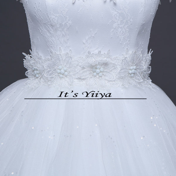 Free Shipping 2017 Vestidos De Novia Boat neck Lace Wedding Dresses White Cheap Bride Frocks Real Picture Custom Made H603