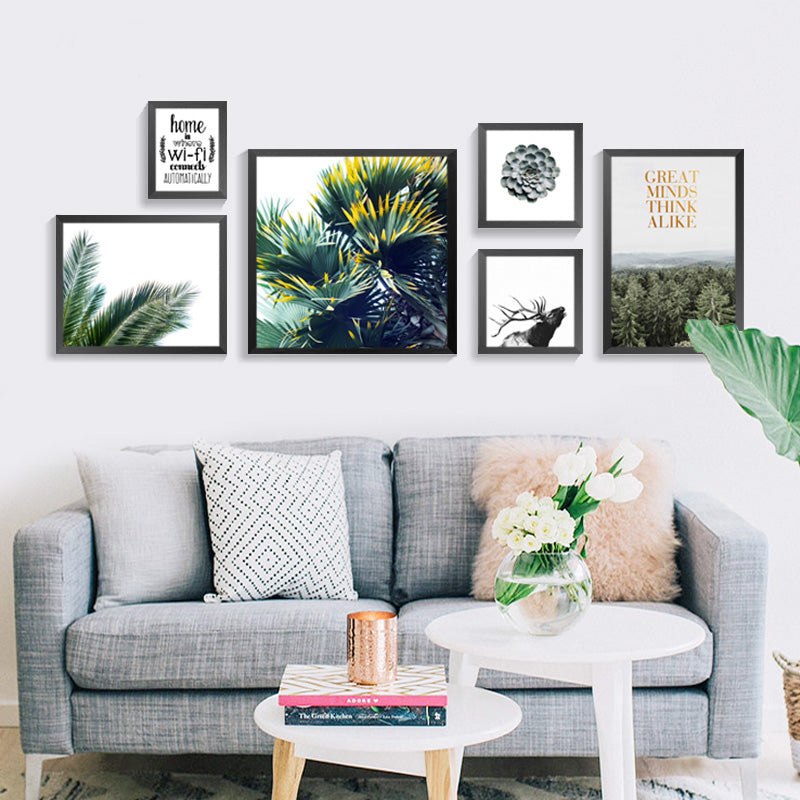 Green World Nordic Decoration Wall Pictures For Living ...