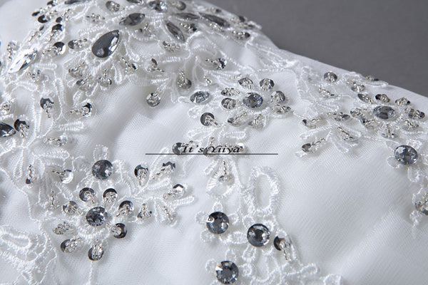 Free shipping white Wedding Dress Bride Princess Lace up Sequins Wedding Frocks Cheap Bridal Ball Gowns Vestidos De Novia HS108