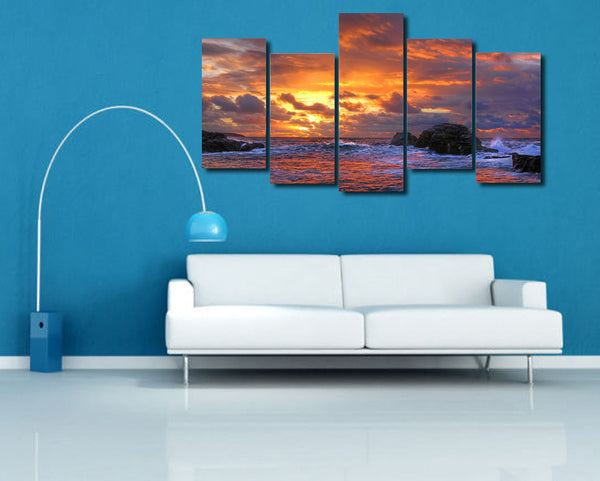 HD Printed ocean wave blue sea sky Painting Canvas Print room decor print poster picture canvas Free shipping/NY-6285