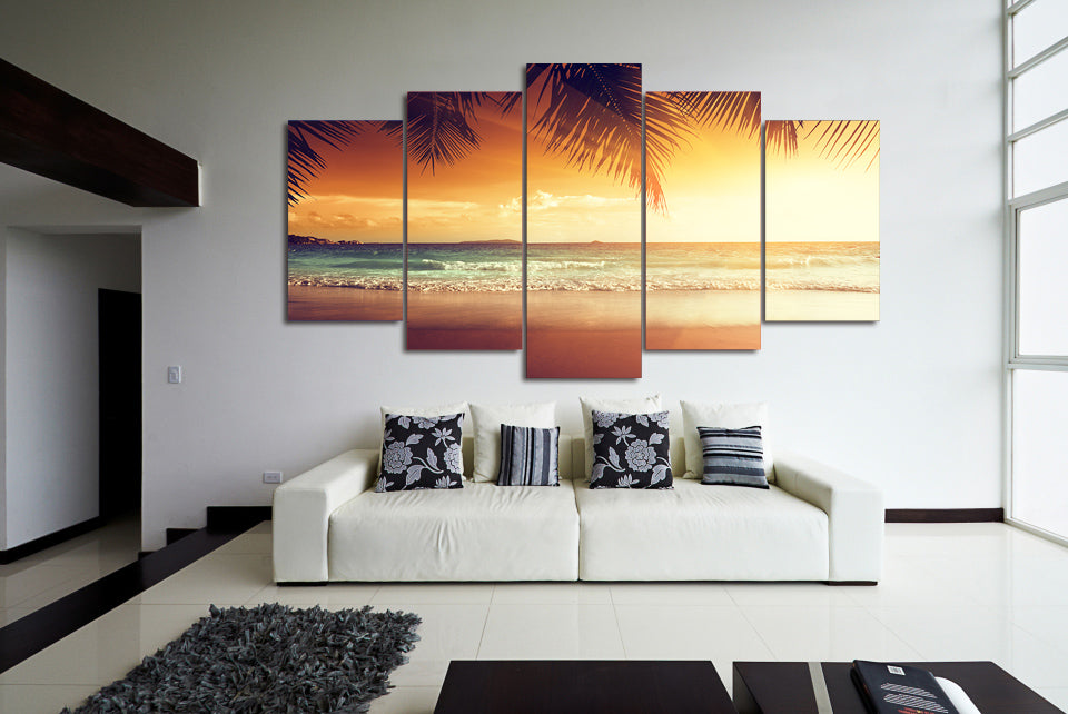 HD Printed tropical sunset paradise Group Painting room decor print poster picture canvas Free shipping/ny-1438