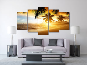 HD Printed tropical sunset paradise Group Painting room decor print poster picture canvas Free shipping/ny-1440