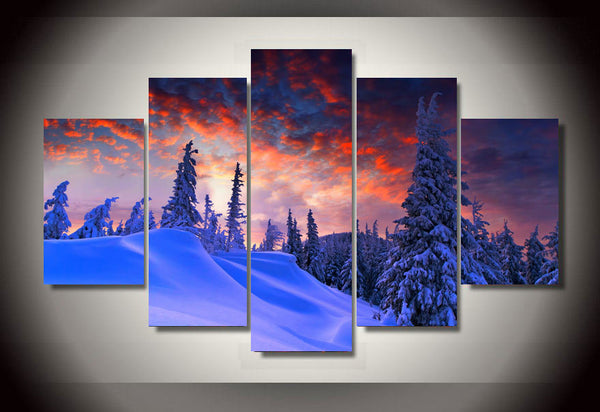 HD Printed Winter Snow picture Painting wall art room decor print poster picture canvas Free shipping/ny-777