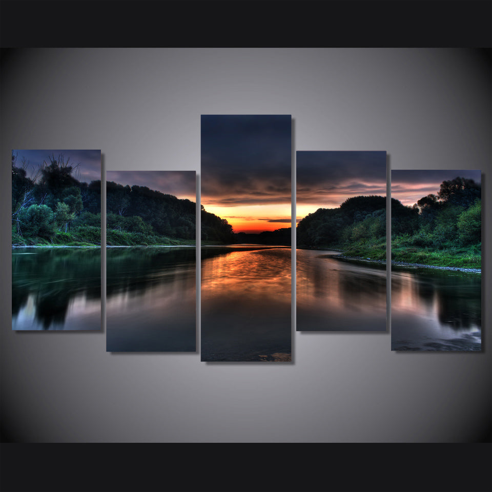 HD Printed sunrise Scenery picture Painting wall art room decor print poster picture canvas Free shipping/ny-623