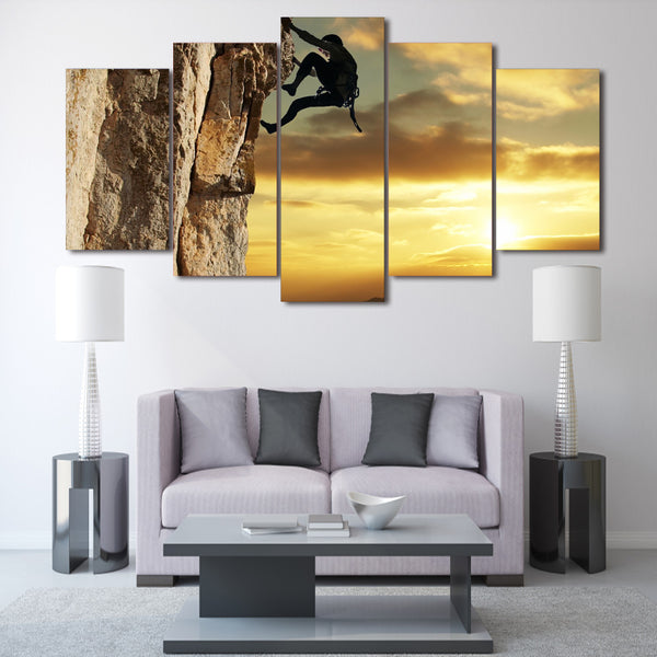 HD Printed rock climbing Group Painting Canvas Print room decor print poster picture canvas Free shipping/ny-454