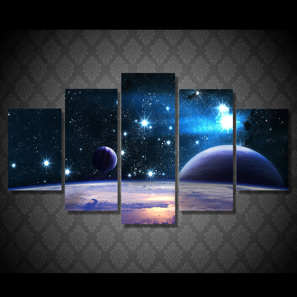 HD Printed Cosmic planetary scene Painting Canvas Print room decor print poster picture canvas Free shipping/ny-6004